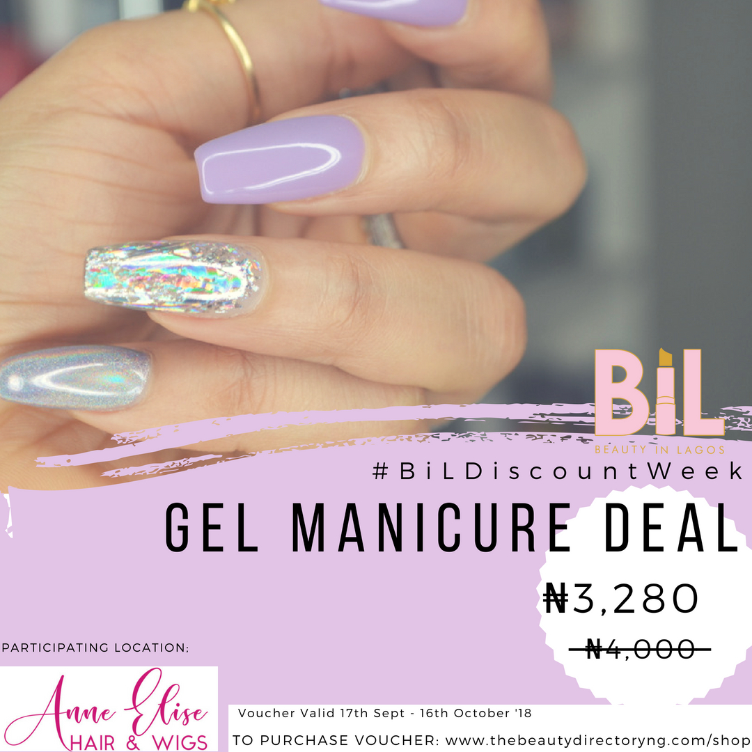 ANNE ELISE SALON | Discount on Gel Manicures & Wig Laundry