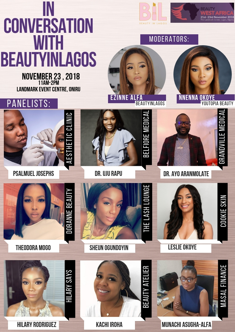 'IN CONVERSATION WITH BEAUTYINLAGOS' AT BEAUTY WEST AFRICA
